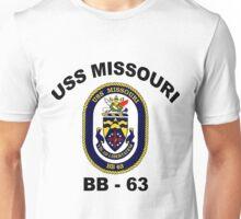 USS Missouri (BB-63) Crest Unisex T-Shirt