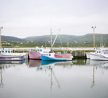 Fishing Boats, Cape Breton Island by Natalie Ord