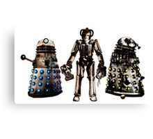 Destroyed Daleks and Rogue Cyberman Canvas Print
