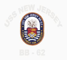 USS New Jersey (BB-62) Crest for Dark Colors Baby Tee