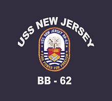 USS New Jersey (BB-62) Crest for Dark Colors Unisex T-Shirt