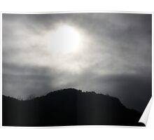 Sun behind the clouds  Poster