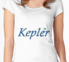 Kepler Space Telescope Program Logo Women's Fitted Scoop T-Shirt