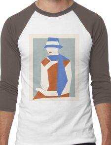 Woman In Blue Hat Men's Baseball ¾ T-Shirt