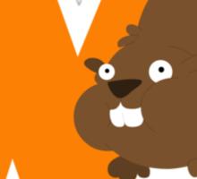 w for wombat Sticker