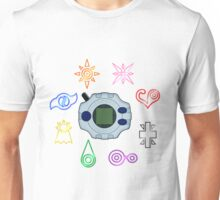 Digivice and crests (Digimon Adventure) Unisex T-Shirt