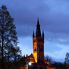 Glasgow University at night by Glaspark