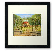 In The Rose Garden Framed Print