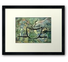 One More Cup Framed Print