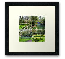 A Dutch Spring Collage - Keukenhof Gardens Framed Print