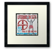 The Lifeguard Creature Is On Duty (2) Framed Print