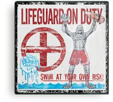 The Lifeguard Creature Is On Duty (2) Metal Print
