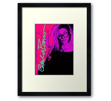 Hot Pink Flush Catlea Framed Print