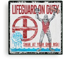 The Lifeguard Creature Is On Duty (1) Canvas Print