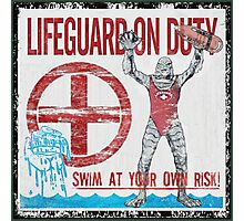 The Lifeguard Creature Is On Duty (1) Photographic Print