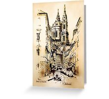 Church in Prague Greeting Card