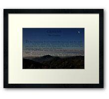 """"""" In the beginning """" Framed Print"""