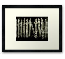 White Picket Fance Framed Print