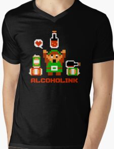 Alcoholink Mens V-Neck T-Shirt