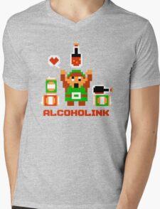 Alcoholink Mens V-Neck T-Shirt