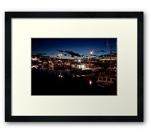 Yarmouth Harbour nights Framed Print