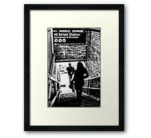 49th Street Subway Station Framed Print