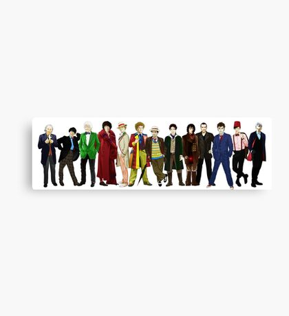 Doctor Who - 13 Doctors lineup Canvas Print