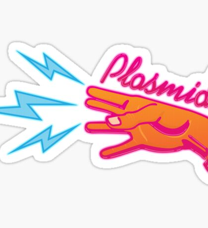 """Plasmids"" sign Sticker"