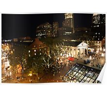 Quincey Market At Night Poster