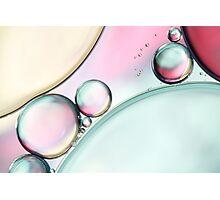 Aqua Fresh Bubble Abstract Photographic Print