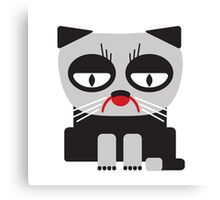 cheerless grumpy looking cat Canvas Print