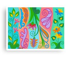 FLOWERS AND CHARACTERS Canvas Print