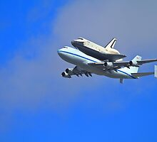 Space Shuttle Enterprise Arrives In New York City by pmarella