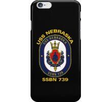 USS Nebraska (SSBN-739) Crest for Dark Colors iPhone Case/Skin