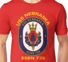 USS Nebraska (SSBN-739) Crest for Dark Colors Unisex T-Shirt