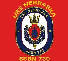 USS Nebraska (SSBN-739) Crest for Dark Colors T-Shirt