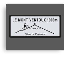 Mont Ventoux Mountain Road Sign Tour de France Canvas Print