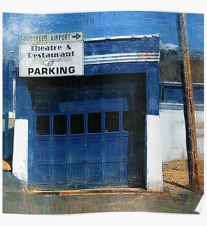 Blue Garage Poster