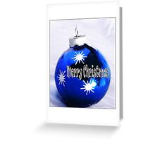 Merry Christmas Bulb Greeting Card