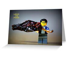 Lego vs Food Greeting Card