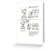 Nepotism gone wrong Greeting Card