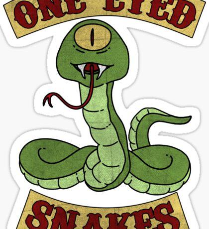 One Eyed Snakes Sticker