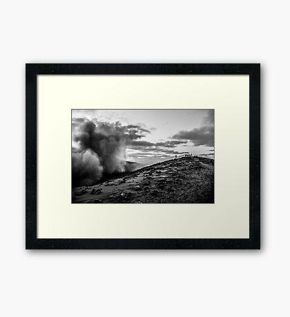 On the precipice Framed Print