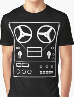 reel tape recorder - white Graphic T-Shirt