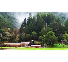 Oregon Valley Farmland Photographic Print