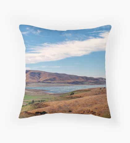 """A Peaceful Getaway"" Throw Pillow"