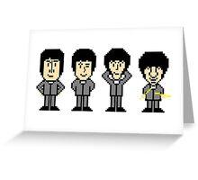 The Pixel Beatles Greeting Card