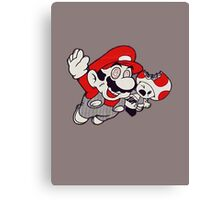 Mario Flying Mushroom Canvas Print
