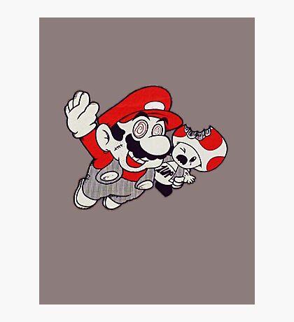 Mario Flying Mushroom Photographic Print