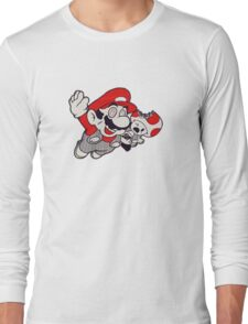 Mario Flying Mushroom Long Sleeve T-Shirt
